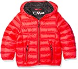 CMP Jungen Daunenjacke Jacke, Red Fluo/Antracite, 152