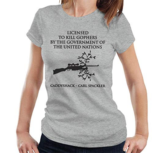 ack Carl Spackler Licenced to Kill Gophers Women's T-Shirt ()