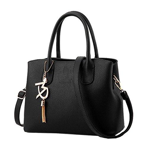 Borse Yy.f Di Fascia Alta Moda Borse Boutique Tracolla Messenger Sacchetto Solido Bella E Generosa Borsa Black