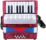 Acordeón para principiantes, piano bajo, acordeón para niños resistente, hogar escolar duradero de uso prolong