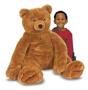 Melissa & Doug Teddy Bear 60cm Large Soft Toy