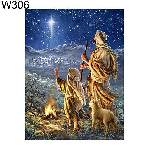MajglgE Diamantgemälde, 30 x 40 cm, Kreuzstichmuster, Bastelarbeiten, Mosaik-Gemälde, Diamantgemälde W306 -