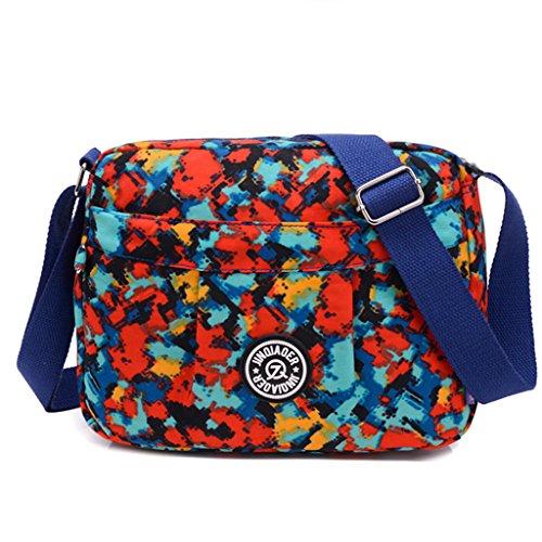 TianHengYi Small Water Resistant Womens Cross-body Shoulder Bag Lightweight Nylon Fabric Messenger Bag Magic Cube