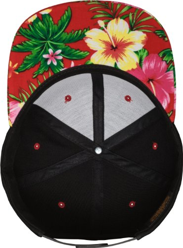 Casquette Flexfit Hawaiian Snapback Cap noir/rouge