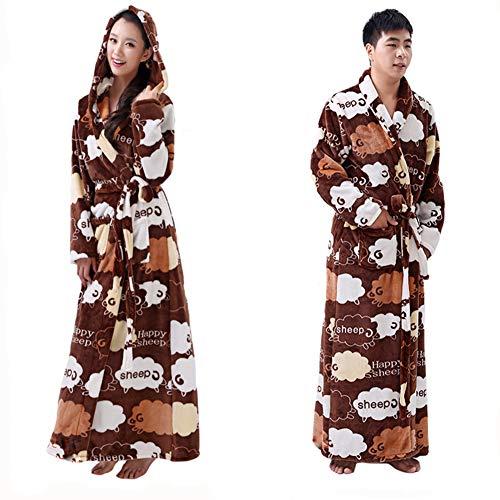 Gyan Unisex Korallenvlies Nachtwäsche Samt Lovers Pyjama Winter Männer Damen lässigem Flanell Nachtwäsche & Lose ()