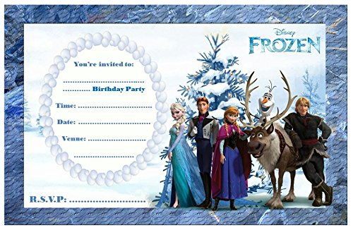 Preisvergleich Produktbild Disney Die Eiskönigin Party-Einladungen, A5, 10 Stück, glänzend