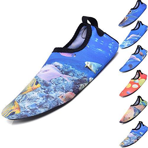BOLOG Unisex-Kinder Schwimmen Wasser Kleinkind Schuhe Barefoot Aqua Schuhe für Beach Pool Surfen Yoga Jungen Mädchen Strandschuhe Surfschuhe Badeschuhe (Kleinkinder Schuhe Kinder)