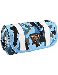 Y-BOA Trousse Scolaire Bag Sac Étudiant Fourniture École Porte-Crayons Stylo Stockage Pochette Bleu