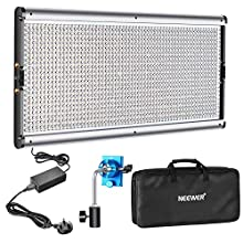 Neewer Dimmable LED Video Light Photography LED Lighting with Metal Frame 1320 LED Beads 3200-5600K, DC Adapter/Battery Power Options for Studio Portrait Product Video Shooting (Battery Not Include)