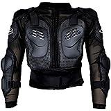 Auto Pearl Fox_M-XXXL Fox Riding Gear Armor Jacket (Black, Large)