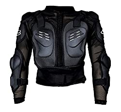 Auto Pearl - Fox Riding Gear Body Armor Jacket For Bike Protective Jacket - Black -Size - XL