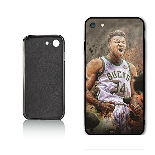 Personalized Sport Best Basketball Player Milwaukee MVP Antetokounmpo Hülle for iPhone 6 iPhone 6s,PC Material Never Fade
