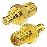 Toiot DAB Autoradio Antenne Aktive Adapter SMA Buchse Stecker an MCX Männlich Kabel Kliken 2 Stücke für Pionner Pure Alpine Kenwood Clarion Jvc