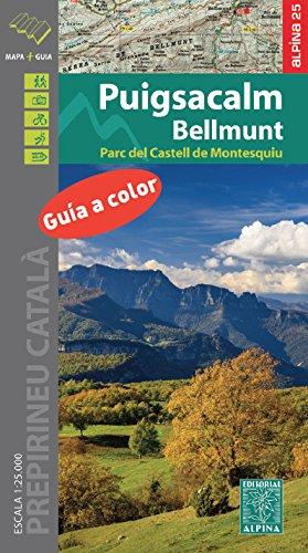 Puigsacalm-Bellmunt, mapa excursionista. Escala 1:25.000. Editorial Alpina. por VV.AA.