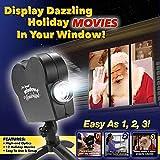 LZX Weihnachts-LED-Projektions-Lampe, 16 Muster IP65 Imprägniern Scheinwerfer, Drehende Landschaftsbeleuchtungen 3D, Innen- Und Wand-Dekorations-Beleuchtung Im Freien