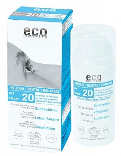 eco cosmetics Sonnenlotion LSF 20 neutral, 100 g