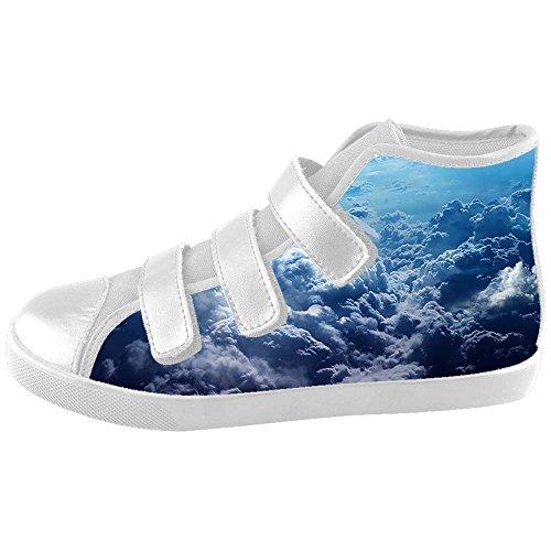 Dalliy Blue Clouds Kids canvas Footwear Sneakers Shoes Chaussures de toile Baskets B
