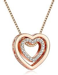 de1f8e28be08 Señoras Colgante Collar Fabricados con Cristales Swarovski Juegos De Joyas  para Mujer-Día de San