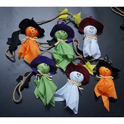 Halloween Decoration, Asnlove 6 Pack Mini Ghost Styling Ornamente Dekorationen Non-woven Total 100CM für Halloween Party