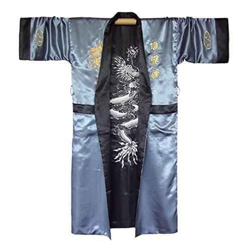 Japanischer Wende-Kimono Satin Morgenmantel