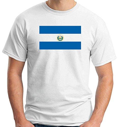 T-Shirtshock - T-shirt TM0186 El Salvador flag, Größe XXL (T-shirt El Flag Salvador)