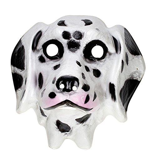 Maske Dalmatiner Kinder Tiermaske Plastik Hundemaske Tiermaske Hund Kindermaske Tier Tierkostüm Faschingsmaske