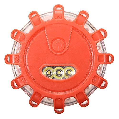 SAFETYON led warnleuchte mit Magnet, warnblinkleuchte rot & weiß LEDs/ 9 Leuchtmodi, für Auto und Fahrrad, magnetisch und wasserdicht Warnblinklicht 3er-Set