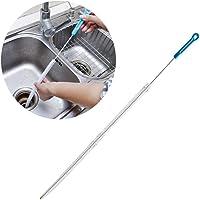 Lukzer 1 Pc Sink Drainage Cleaner Wire Hair Remover Brush/Drain Unblocker Stick Kitchen Tool Sink Overflow (Random Colour)