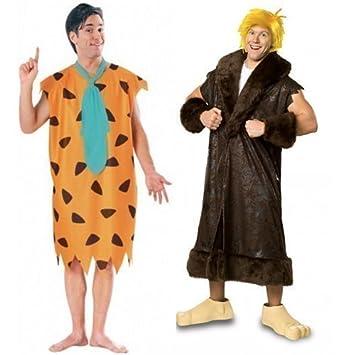 Mens Fred Flintstone Fancy Dress Costume Flintstones Caveman Costume