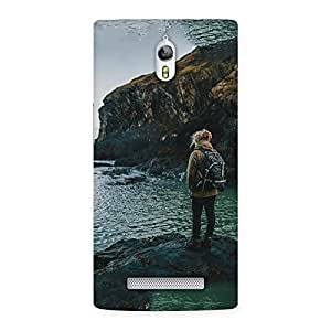 Neo World Girl Backpacker Back Case Cover for Oppo Find 7