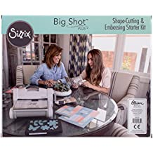 Ellison Europe Sizzix 660341 Big Shot Plus Kit de iniciación, color blanco y gris