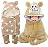 #10: BRANDONN Combo Of All Weather Premium Hooded Sleeping Blanket And Android Shaped Envelope Safety Blanket Pack Of 6