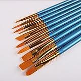 Multifunzionale, pennelli in nylon, plastica, azzurro, set di 10