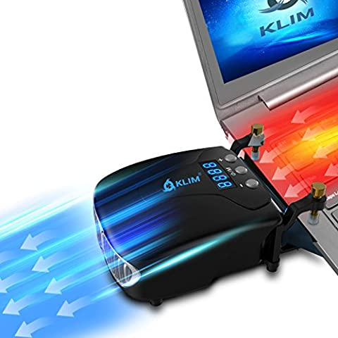 KLIM Tornado Laptop-Kühler - NEU + INNOVATIV - Schnelle Kühlung - klein + geringes Gewicht + leistungsstark + wirksam gegen die Überhitzung - USB Warmluft-Abzug