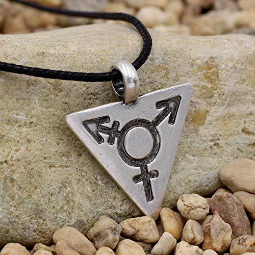 lskette Männliche Symbol Dreieck Gay Pendant Silver Color Pewter Lgbt Halskette ()