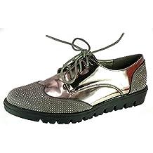 Shoes Scarpe da Passeggio Donna Ragazza Moda Comoda New Tacco Basso cm 3 TG  40 Colore ecdc74e5eab