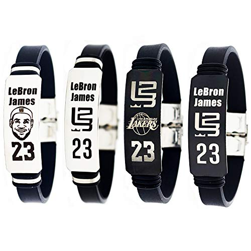 NBA Basketball Lebron James inspirierende verstellbare Armbänder Los Angeles Lakers Sport Silikon Armband 4 Stück