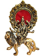 Trendy Crafts Metal Durga Maa Goddess Hindu Religious Murti