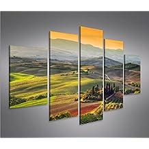 Bild Bilder Auf Leinwand Toskana V5 Italien Landschaft MF XXL Poster Leinwandbild Wandbild Dekoartikel Wohnzimmer Marke