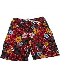 SoulStar Mens Mango Hawaiian Patterned Floral Long Board/Swim Shorts