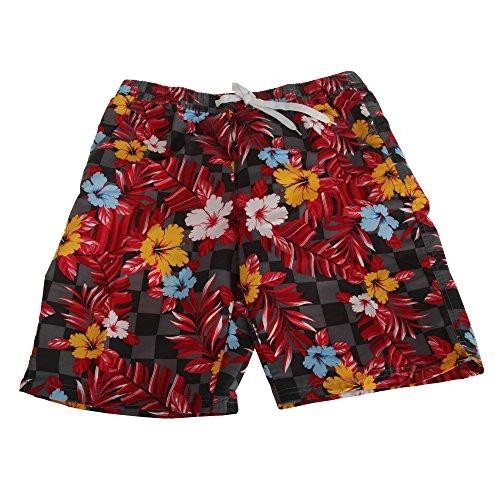Soulstar Herren Mango Hawaii Floral Muster Lange Board Shorts Grau