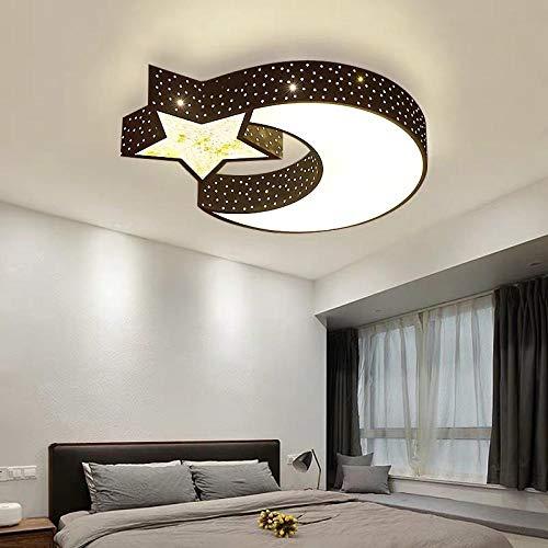 Eisen Deckenleuchte moderne minimalistische LED-Lampe Schmiedeeisen Sterne Deckenleuchte Schlafzimmer Wohnzimmer Hotelzimmer Dekoration @ Black_70 cm LED warmes Licht