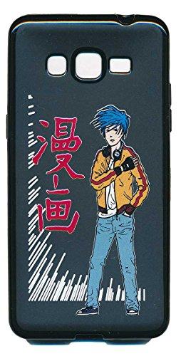 Syl'la Housse Coque Gel pour Samsung Galaxy Grand Prime G530 G531, Motif Manga Boy