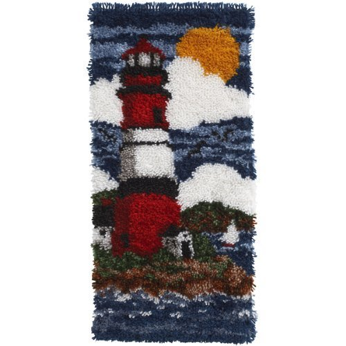 Spinrite Wonderart Latch Hook Kit, 16 by 32-Inch, Lighthouse by Spinrite