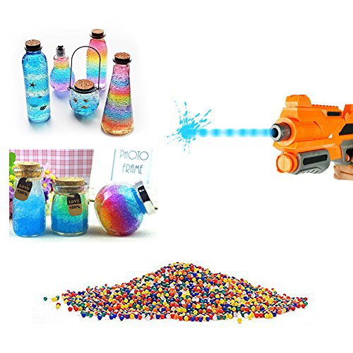 10000pcs / pack 9-13m m Orbeez weiche Farbe Kristallwasser Paintball-Gewehr Kugel Wasserkugeln wachsen
