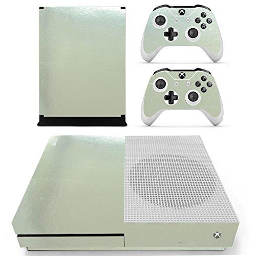 Preisvergleich Produktbild Stillshine Xbox ONE S Design Folie Vinyl Aufkleber Skin für Konsole + 2 Controller + Kamera Sticker Set (Glossy Silver)