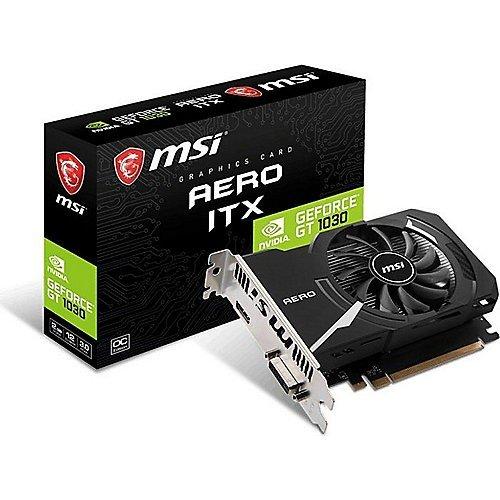 MSI Nvidia Geforce GT 1030Aero ITX 2GD4OC, Salidas HDMI, DVI-D