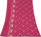 Vintage Dupatta Indian Long Stole Embroidered Georgette