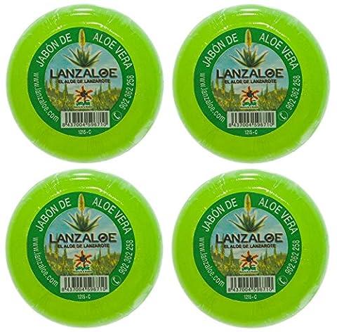Lanzaloe Aloe Vera savon 100gr x 4