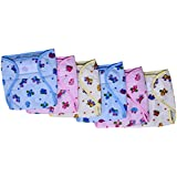 New Born Baby Diapers With Plastic Inside And Printed Cotton Outside For 0-6 Months(Unisex, Pack Of 6)